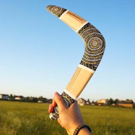 Bumerangas, laisvalaikio dovanos pagamintos Lietuvoje